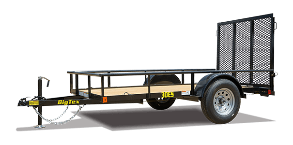 The 30es From Big Tex Trailers Is An Economy Single Axle Utility Trailer This Trailer Features A Heavy Duty Frame And Treated Pine Or Fir Floors And Comes