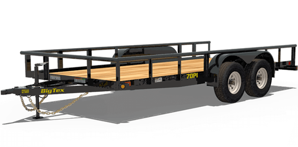 The 70pi X Tandem Axle Pipe Top Utility Trailer Comes Standard With A Generous 83 Inch Width Ideal For Hauling Compact Trailers Small Equipment And Other
