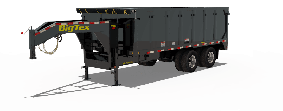 Big Tex Trailers 25DU Tandem Dual Gooseneck Dump Trailer Gooseneck Dump Trailer Wiring Diagram on