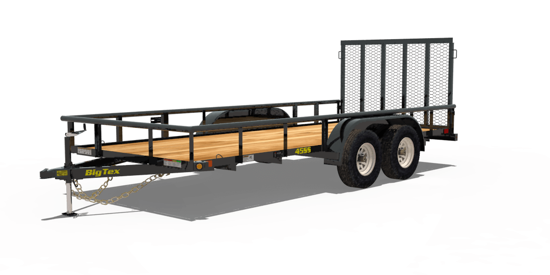 Big Tex Trailers 45SS Economy Tandem Axle Pipe Top Trailer
